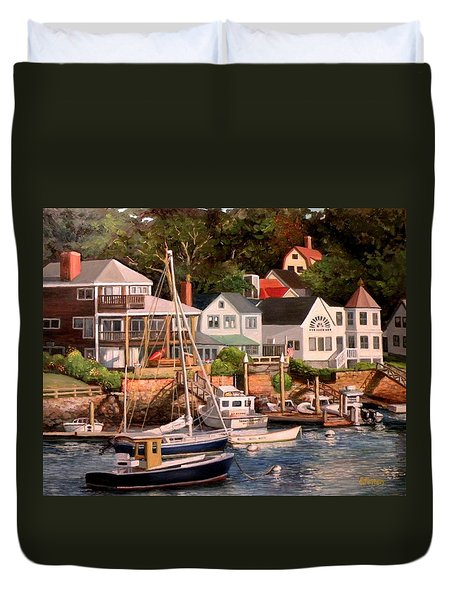 Smiths Cove Gloucester Duvet Cover by Eileen Patten Oliver