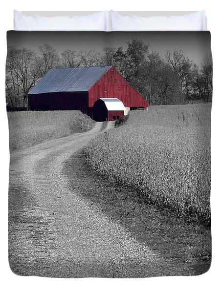 Smithsburg Barn Duvet Cover by Robert Geary