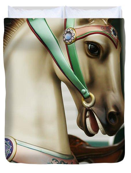 Smithville Carousel Horse I Duvet Cover