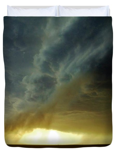 Smoke And The Supercell Duvet Cover