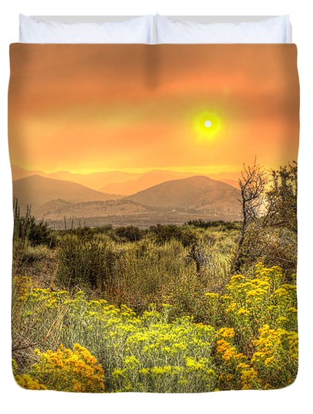 Smoke In The Air Duvet Cover by Dianne Phelps