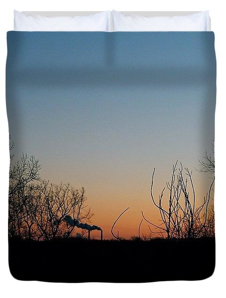 Smoke Stacks In The Distance Duvet Cover