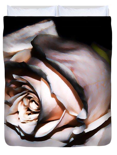 Smoked Rose Duvet Cover by Mariola Bitner