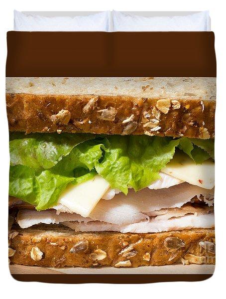 Smoked Turkey Sandwich Duvet Cover