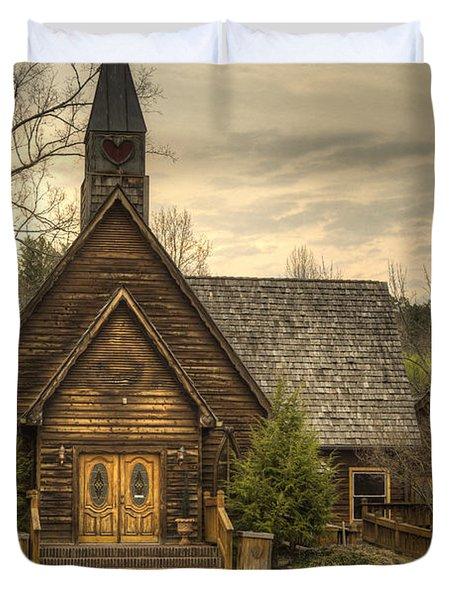 Smokey Mountain Love Chapel 2 Duvet Cover
