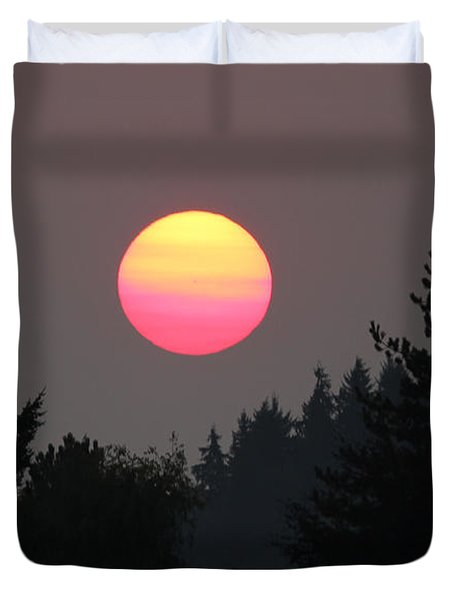 Smokey Sunrise Duvet Cover