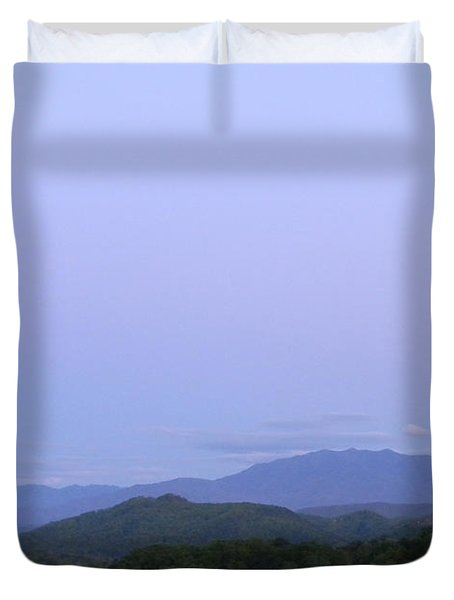 Smokies At Dusk Duvet Cover