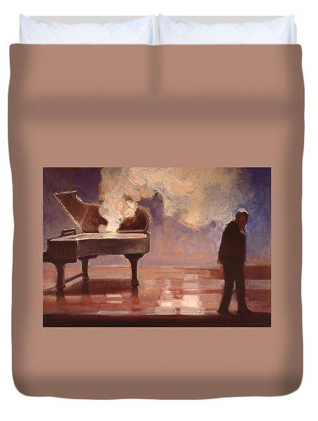 Smokin Piano Duvet Cover by Emily Gibson
