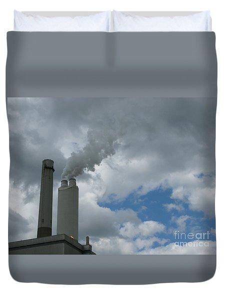 Smoking Stack Duvet Cover by Ann Horn