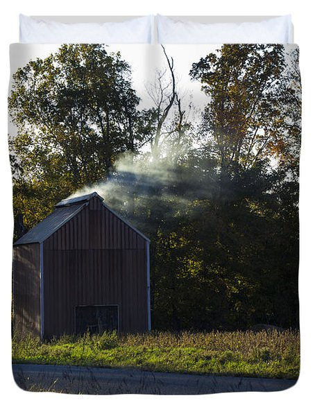 Duvet Cover featuring the photograph Smoking Tobacco by Amber Kresge