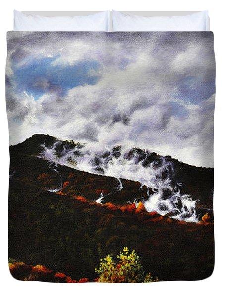 Smoky Mountain Angel Hair Duvet Cover by Craig T Burgwardt