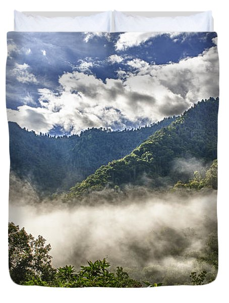 Smoky Mountain Chimney Tops Duvet Cover