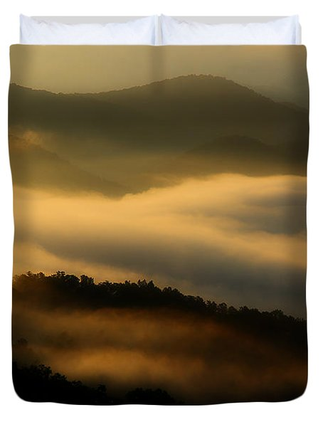 Smoky Mountain Spirits Duvet Cover by Michael Eingle