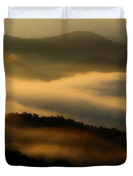 Smoky Mountain Spirits Duvet Cover by Michael Eingle
