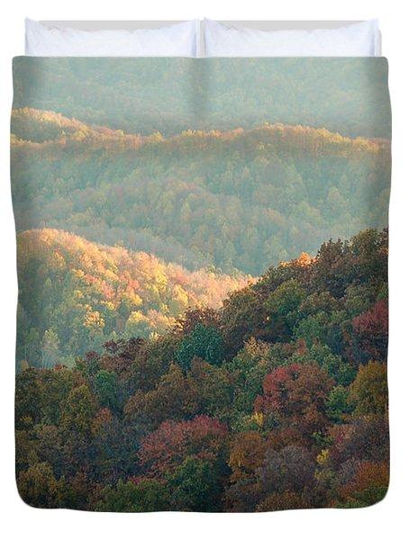 Smoky Mountain View Duvet Cover