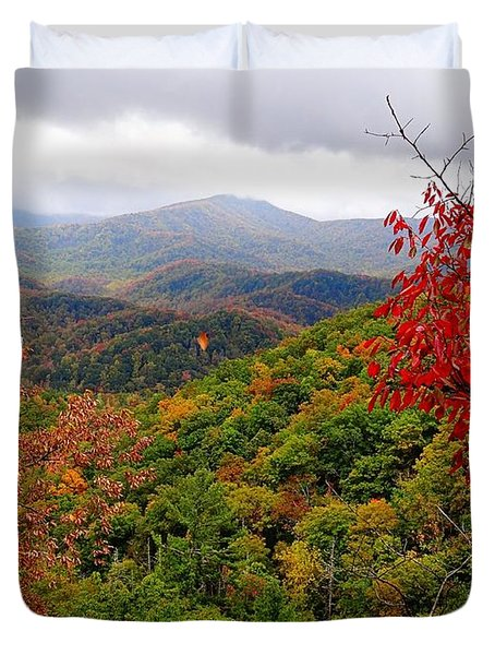 Smoky Mountains In The Fall Duvet Cover