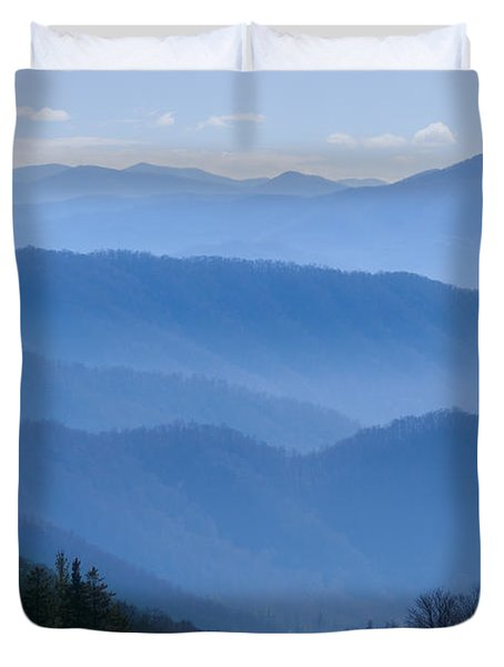 Smoky Mountains Duvet Cover by Melinda Fawver