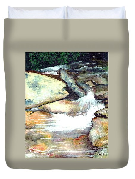 Smoky Mountains Waterfall Duvet Cover by Patricia Griffin Brett