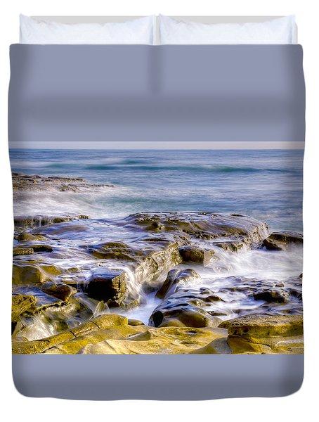 Smoky Rocks Of La Jolla Duvet Cover