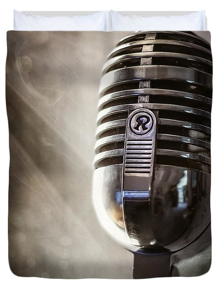 Smoky Vintage Microphone Duvet Cover