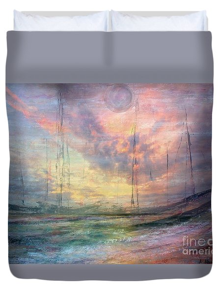 Smooth Sailing Duvet Cover