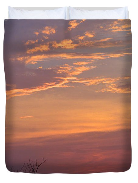 Smooth Sunset Duvet Cover by Leticia Latocki
