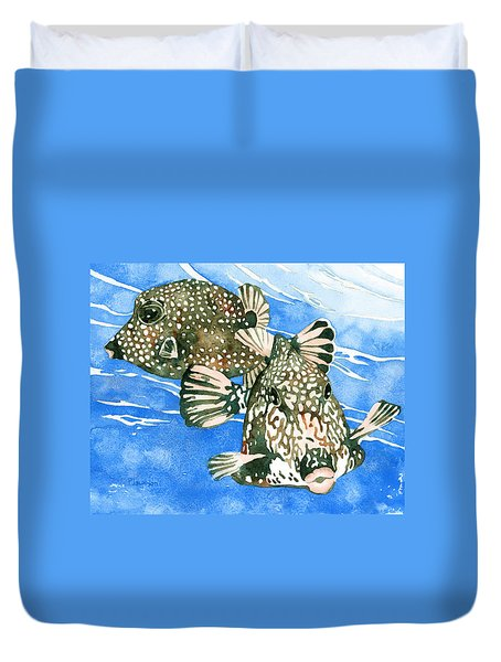 Smooth Trunkfish Pair Duvet Cover