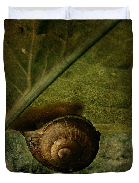 Snail Camp Duvet Cover
