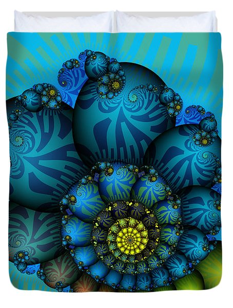 Snail Mail-fractal Art Duvet Cover