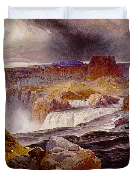 Snake River Idaho 1876 Duvet Cover by Unknown