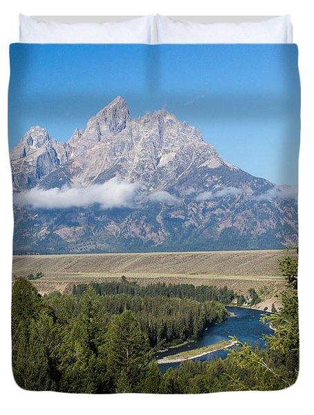 Snake River Overlook Duvet Cover