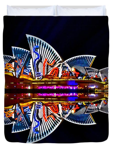 Snakes On The Opera House Duvet Cover by Miroslava Jurcik
