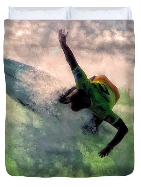 Snap Turn Duvet Cover by Michael Pickett
