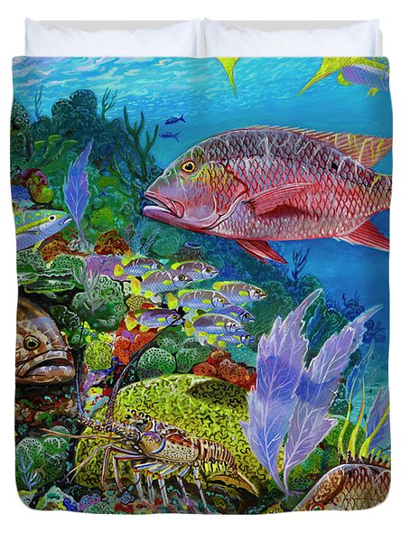 Snapper Reef Re0028 Duvet Cover by Carey Chen