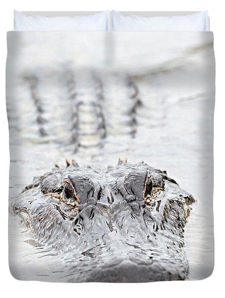 Sneaky Swamp Gator Duvet Cover