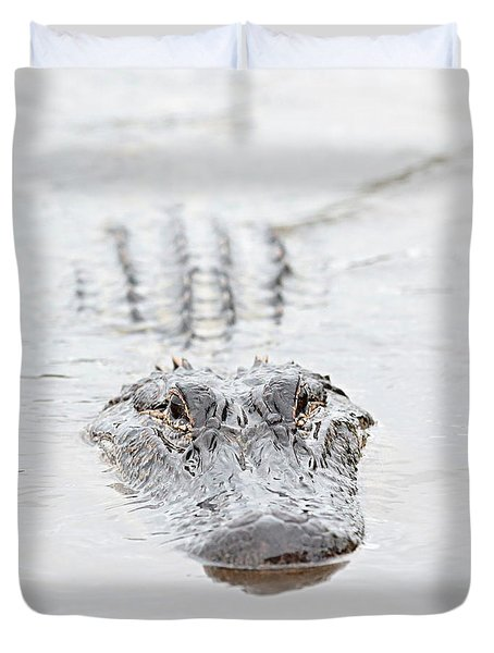 Sneaky Swamp Gator Duvet Cover by Carol Groenen
