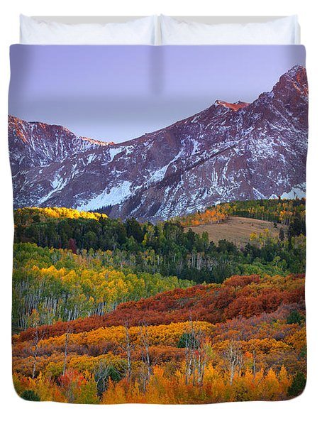Sneffels Sunrise Duvet Cover