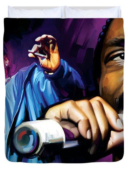 Snoop Dogg Artwork Duvet Cover by Sheraz A