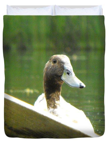 Snooping Duck Duvet Cover