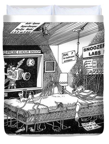 Snoozer Sleep Lab Study Duvet Cover by Jack Pumphrey
