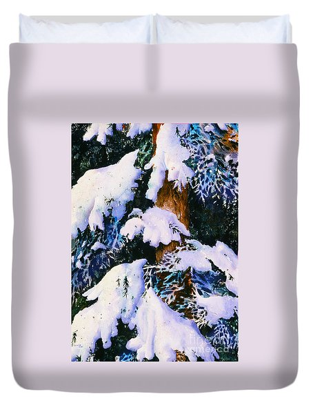 Snow And Frost Duvet Cover