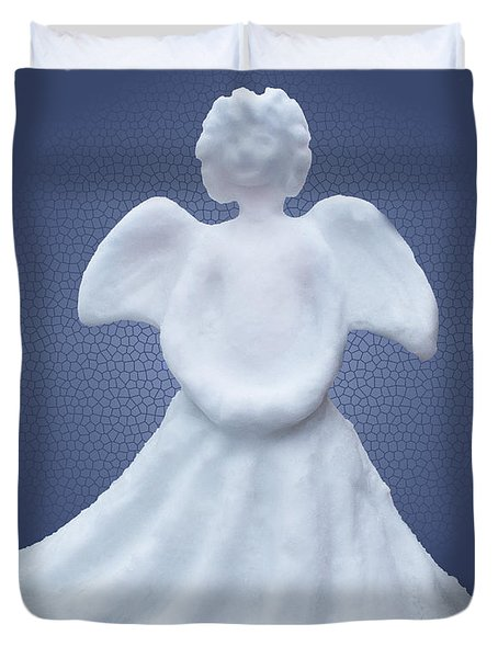 Snow Angel Duvet Cover by Barbara McMahon