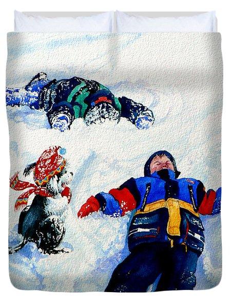 Snow Angels Duvet Cover by Hanne Lore Koehler