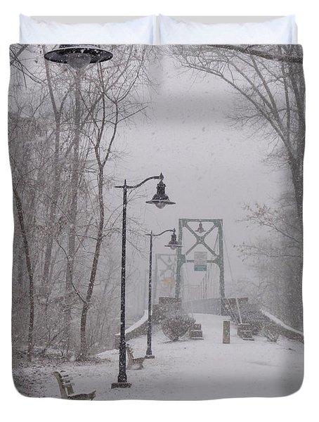 Snow At Bulls Island - 05 Duvet Cover