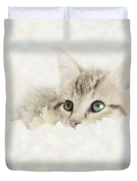 Snow Baby Duvet Cover by Amy Tyler