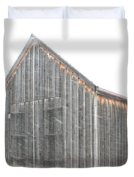 Duvet Cover featuring the photograph Snow Barns by Christopher McKenzie