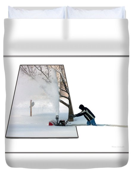 Snow Blower Duvet Cover by Thomas Woolworth
