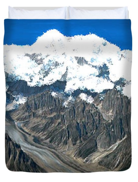 Snow Capped Canyon Duvet Cover