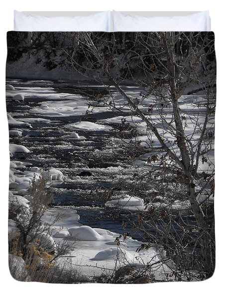 Snow Capped Stream Duvet Cover