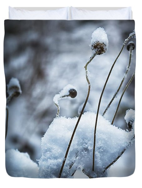 Snow Forms Duvet Cover by Belinda Greb